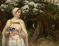 Matilda formerly called Beatrice :: John William Waterhouse - mythology and poetry