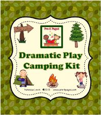 Dramatic Play Camping Printables for Preschool and Kindergarten - DIY vest from a paper bag and binoculars from toilet paper rolls!  Love this idea!