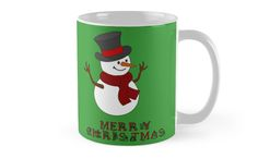 Merry Christmas Snowman clipart by cool-shirts