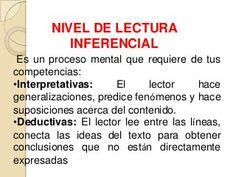 NIVEL DE LECTURA INFERENCIAL