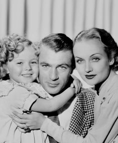 Shirley Temple, Gary Cooper and Carol Lombard in the film 'Now and Forever' - 1934