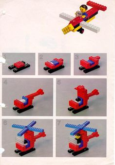 LEGO 222 Building Ideas Book instructions displayed page by page to help you build this amazing LEGO Books set Lego Duplo, Minifigures Lego, Lego Ninjago, Lego Basic, Lego Club, Lego Design, Manual Lego, Lego Building, Building Ideas