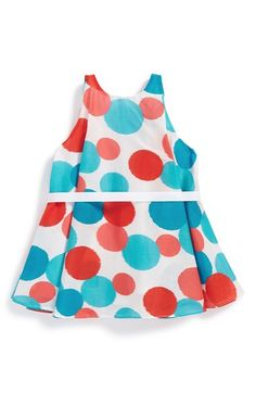 Halabaloo Dot Print Sleeveless Dress (Baby Girls) available at #Nordstrom
