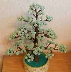 French Beaded Flowers, Wire Trees, Flowering Trees, Succulents, Ideas, Plants, Wire Sculptures, Flower Tree, Aliens