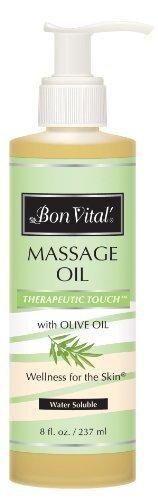 Bon Vital Therapeutic Touch Massage Oil 8 oz. Jar with Pump
