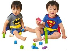 Promotion 4 sets/lot Fashion Batman&Superman Baby Romper with Dress Smock Infant Cloak Costume Free Shiping