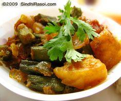 Bhindi Basar Patata~Okra with Potatoes in Onion Base - Sindhi Rasoi |Sindhi Recipes