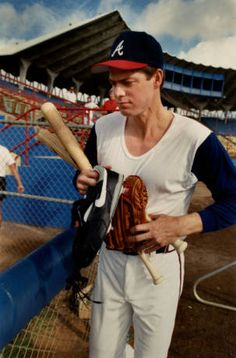 In honor of the new baseball season, a photograph of the Atlanta Brave's Dale Murphy at training camp (1989). This image comes from the Atlanta Journal-Constitution Photographic Archive at the Georgia State University Library Special Collections and Archives: http://digitalcollections.library.gsu.edu/cdm/ref/collection/ajc/id/738.