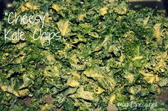 cheesy kale chips with nutritional chips