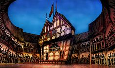 The Complete Works of Shakespeare (Abridged). Set design by Shawn Fisher.