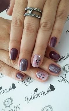 Nails art flores glitter ideas for 2019 Gorgeous Nails, Pretty Nails, Teal Nail Designs, Nail Polish Style, Teal Nails, Super Nails, Flower Nails, Holiday Nails, French Nails