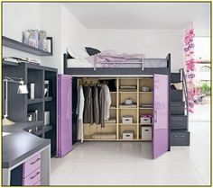 Loft Bed With Closet …