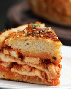 Chicken Parmesan Bread Bowl Recipe by Tasty