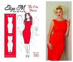 Eliza M's Eva wiggle dress - courtesy of Love Sewing magazine.