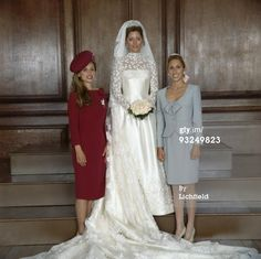 The new Crown Princess Marie Chantal of Greece, with her sisters, Pia (left) and Alexandra (right)