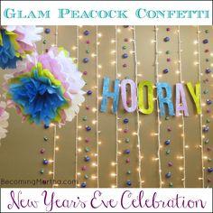 Becoming Martha: A Glam Peacock Confetti Celebration