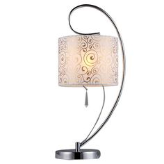 Illuminate your home with this charming swirl table lamp and fill your environment with an exquisite touch of beauty. The graceful metal and crystal struc...