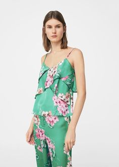 Top fluido floral | MNG