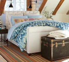 Chesterfield Bed with Footboard #potterybarn