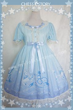 Store: MyLolitaDress Price: $139.98 For Dress $16.99 For Wristcuffs Size: XL Color: Blue to Purple