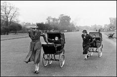 Kensington Gardens by Bruce Davidson  GB. ENGLAND. London. 1960. Women with baby carriages. @Deidra Brocké Wallace