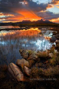Sunrise over Stac Pollaidh, Coigach. The North West Geopark, Scottish Highlands