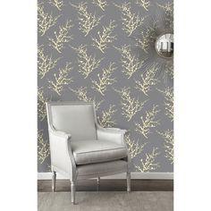 Tempaper Edie Temporary Wallpaper in Lemon Ash - EDIE-ED021