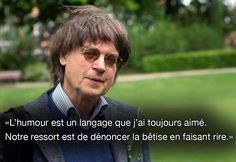 "CABU:"" humor is a language that I always loved , our responsibility is to denounce stupidity by laughing of it"" Cabu, one of the French journalists assassinated in Paris by terrorists at "" Charlie Hebdo"" one of the most beloved caricaturist newspaper in France"