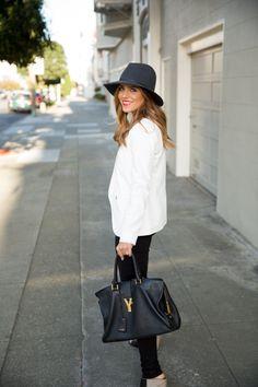 YSL + Black + White Blazer http://galmeetsglam.com/2014/04/the-basics-2/