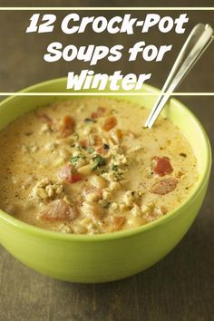 12 crock-pot soups for Winter
