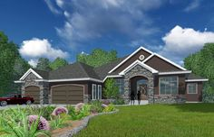 House Plan 81168   Bungalow    Plan with 3018 Sq. Ft., 3 Bedrooms, 4 Bathrooms, 3 Car Garage