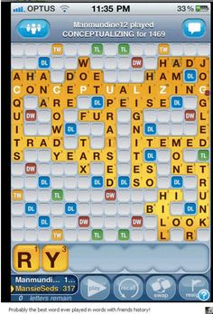 Best Words with Friends move ever