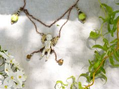 SautoirSomebody in my gardenange ou par Midiaquatorzeheures sur Etsy, $64.00