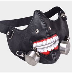 Ghoul Faux Leather Locomotive Mask