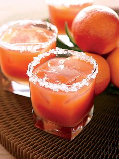 Brides: Blood Orange Margarita. This blood-orange margarita is one of the most requested drinks at Meyer's barbecue  restaurant, Blue Smoke. Find the lemonade and margarita recipes in Mix Shake Stir: Recipes from Danny Meyer's Acclaimed New York City   Restaurants (Little, Brown & Company).