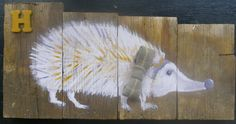 H is for Hedge Hog by hilarycassady on Etsy, $45.00