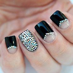 Instagram media by paulinaspassions #nail #nails #nailart Glitter Nail Art, Black Glitter, Cool Nail Art, Easy Nail Art, Nail Art Designs 2016, Cute Nail Art Designs, Awesome Designs, Art Nails, Acrylic Nails