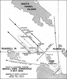 The Battle of Cape Esperance, also known as the Second Battle of Savo Island and, in Japanese sources, as the Sea Battle of Savo Island (サボ島沖海戦?), took place on 11–12 October 1942, and was a naval battle of the Pacific campaign of World War II between the Imperial Japanese Navy and United States Navy. The battle was the second of four major surface engagements during the Guadalcanal campaign and took place at the entrance to the strait between Savo Island and Guadalcanal in the Solomon…