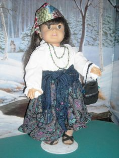 American Girl 18 doll Handmade Gypsy Costume with by snorklegranny, $22.95