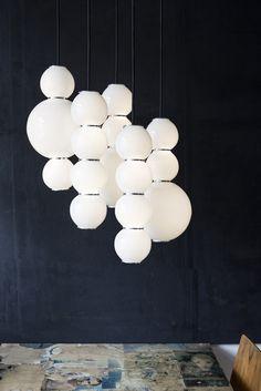 Buy online Pearls By formagenda, led satin glass pendant lamp design Benjamin Hopf