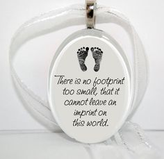 No footprint too small Oval Glass Christmas by bugaboojewelry, $12.00-for stillbirth.