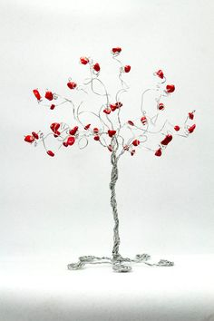 Set of Four Wire Tree Sculptures in The Elements by NouveauTique