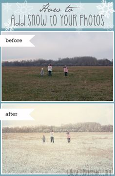 Make it Snow with Photoshop!