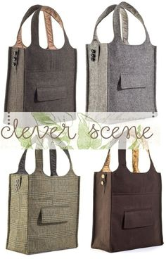 sew an old suit into a cute bag.