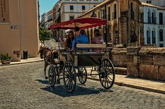Horse Carriage In Ronda. Spain by Jenny Rainbow. Urban Photography, Fine Art Photography, Street Photography, Art Prints For Home, Fine Art Prints, Ronda Spain, Framed Art, Framed Prints, Horse Carriage