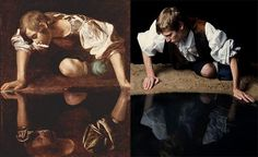 Caravaggio, Narciso, 1597