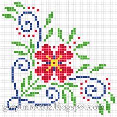imagenes de flores de punto de cruz - Buscar con Google