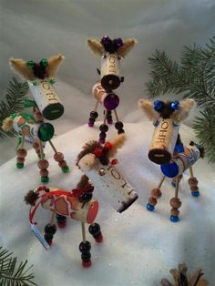 WINE CHRISTMAS ORNAMENT  WinedeerGiraffe by WineToTheNines on Etsy, $21.95