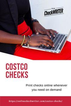 Costco Checks Printing Software Online Checks Checks