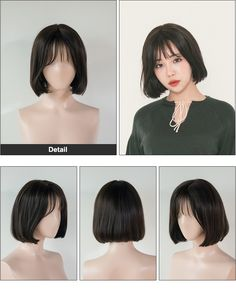 Pin on hair Pin on hair Ulzzang Short Hair, Asian Short Hair, Short Hair With Bangs, Asian Hair, Girl Short Hair, Short Hair Cuts, Korean Short Hairstyle, Short Hair Korean Style, Asian Bob Haircut